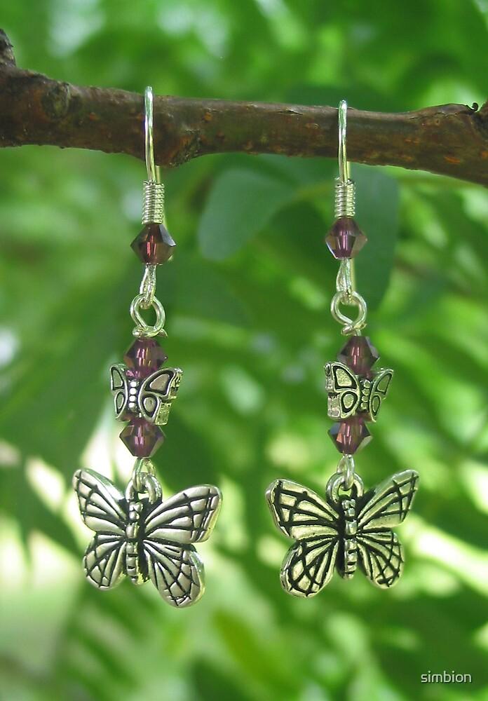 butterfly earrings by simbion