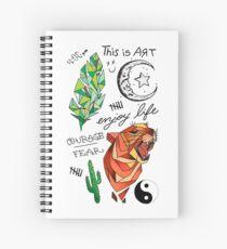 Cuaderno de espiral Kian Lawley tatuajes caja del teléfono