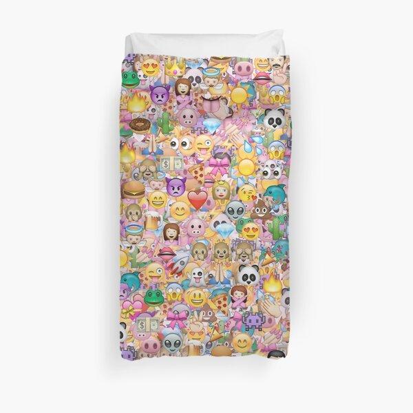 happy emoji pattern Duvet Cover