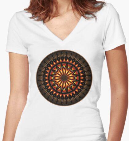 Fire Spirit Women's Fitted V-Neck T-Shirt