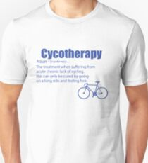 Funny Cycling Design - Cycotherapy Noun T-Shirt