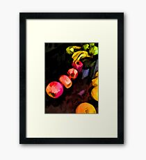 Still Life of Pink Apples in a Curve Framed Print