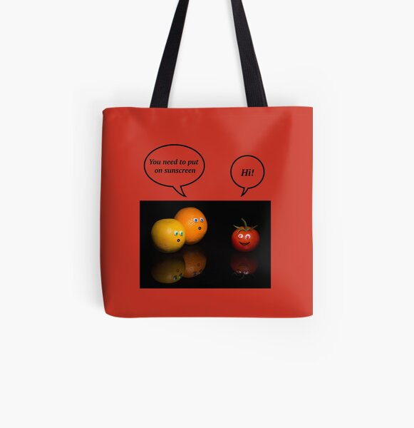 HAPPY TOMATO All Over Print Tote Bag