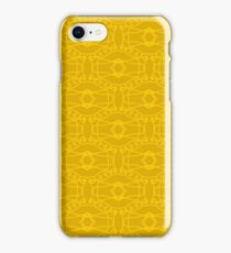 Yellow Seamless Texture. Element for Design. Ornamental Backdrop. Pattern Fill. Ornate Decor for Wallpaper. Traditional Decor on Background iPhone Case/Skin