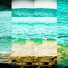 Tangy Turquoise Vintage Sea Views Multi-Photo by Sue Wellington