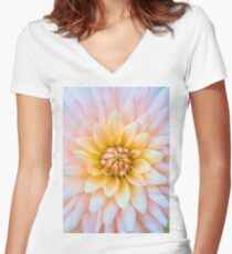 When things are looking down, find something beautiful looking up. Women's Fitted V-Neck T-Shirt