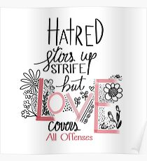 Love Covers All Offenses Poster