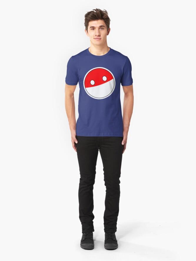 Alternate view of Polandball   Countryball Slim Fit T-Shirt