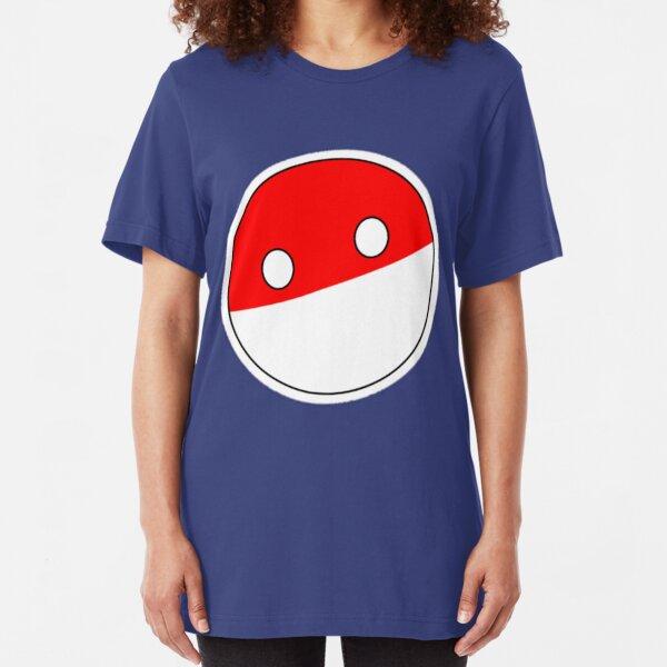 Polandball | Countryball Slim Fit T-Shirt