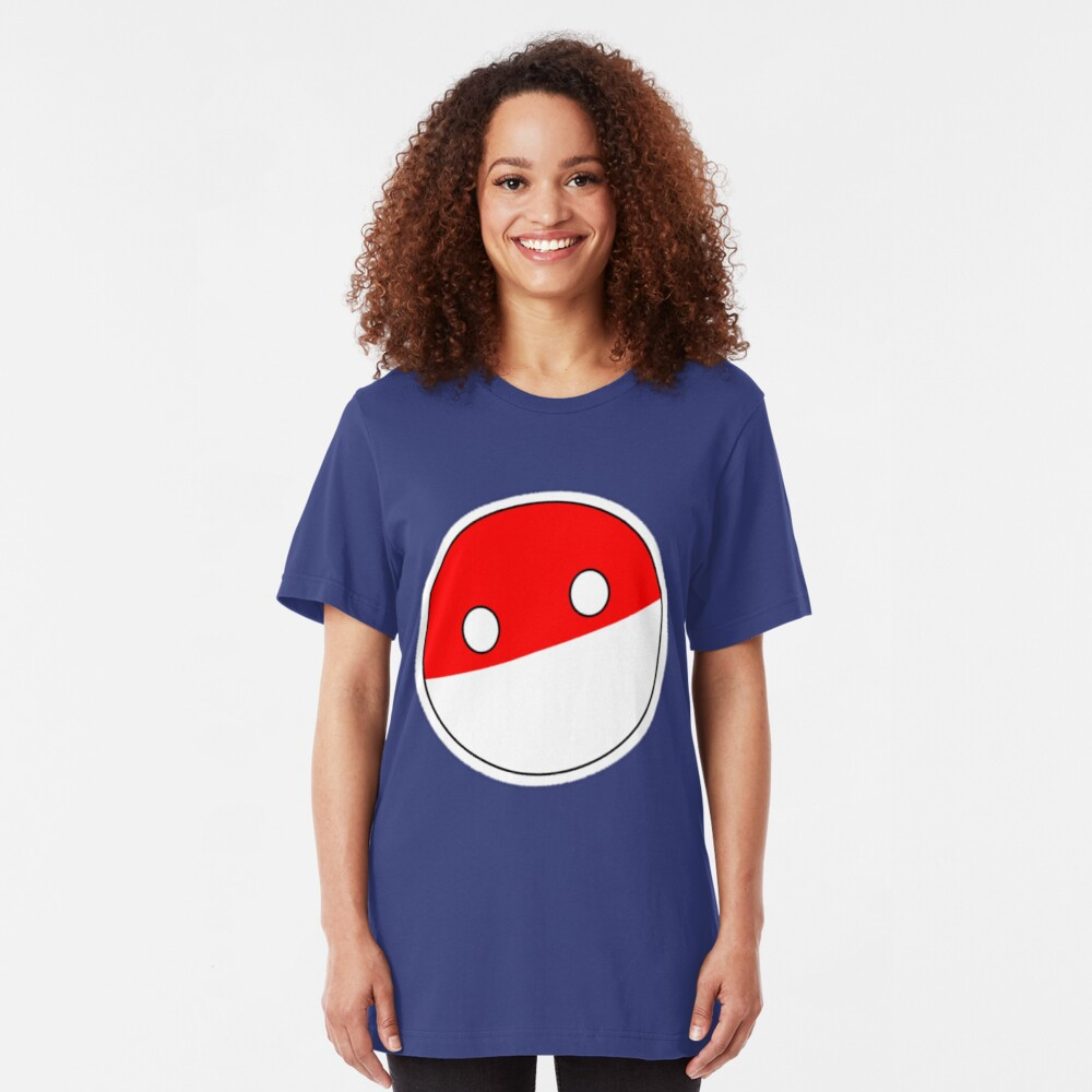 Polandball   Countryball Slim Fit T-Shirt