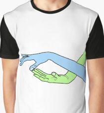 Comic, feelings, tenderness, emotions, hands, fingers, love Graphic T-Shirt