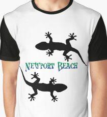 Newport Beach California Geckos Graphic T-Shirt