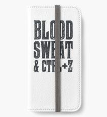 Blut, Schweiß und Strg + Z iPhone Flip-Case/Hülle/Skin