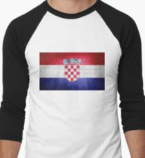 Croatia Flag Men's Baseball ¾ T-Shirt