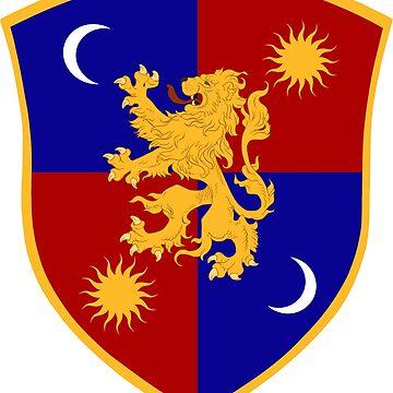 Lannister of Tarth Shield by VoxdeMist