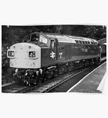 A classic diesel locomotive Poster