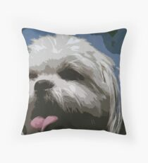 Shaggy Dog Throw Pillow