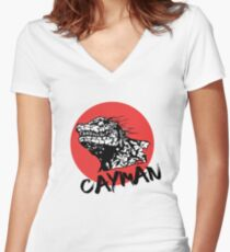 CAYMAN! Women's Fitted V-Neck T-Shirt