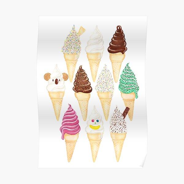 Soft Serve Sundays - Vanilla Poster
