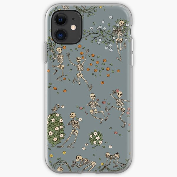 Skeletons with garlands iPhone Soft Case
