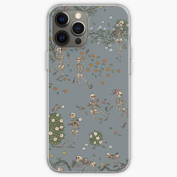Squelettes avec des guirlandes Coque souple iPhone