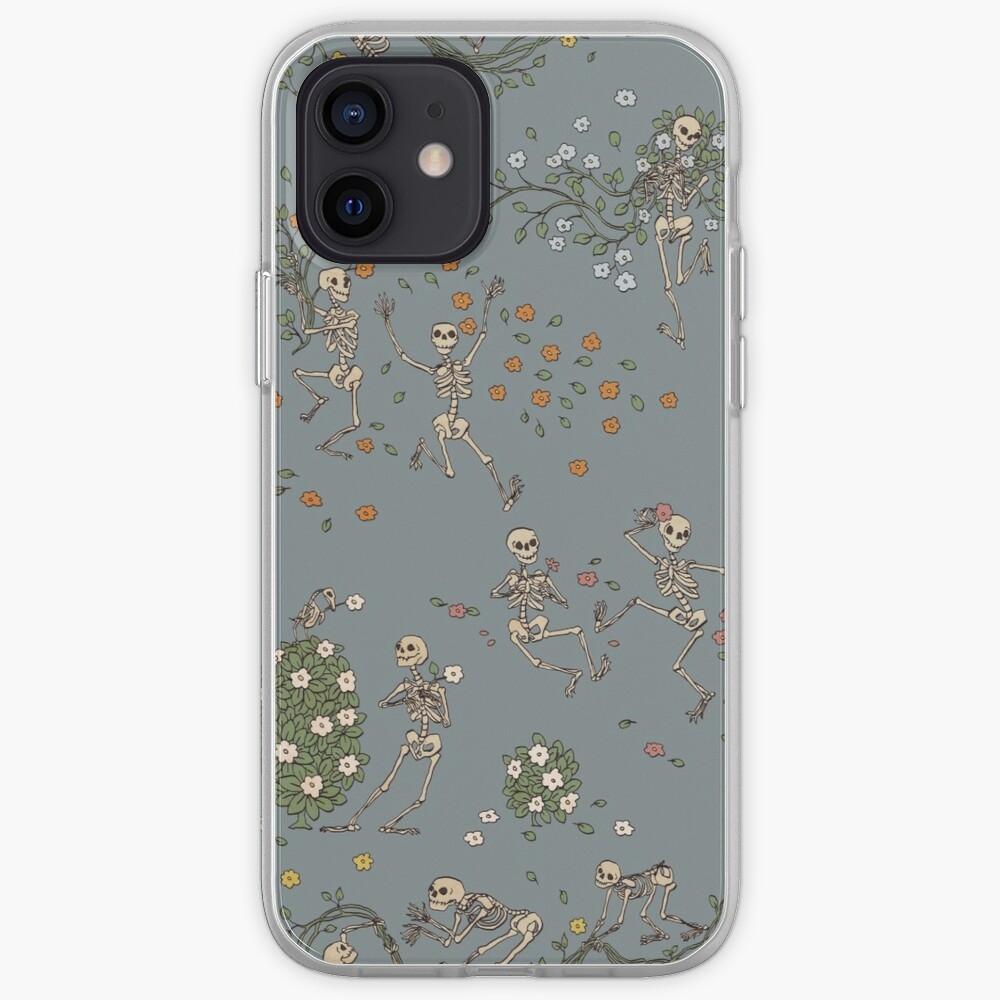 Skeletons with garlands iPhone Case & Cover