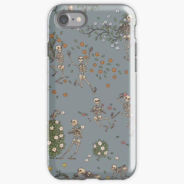 Skeletons with garlands iPhone Tough Case