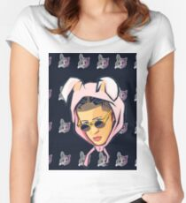 Bad Bunny - Pattern Women's Fitted Scoop T-Shirt