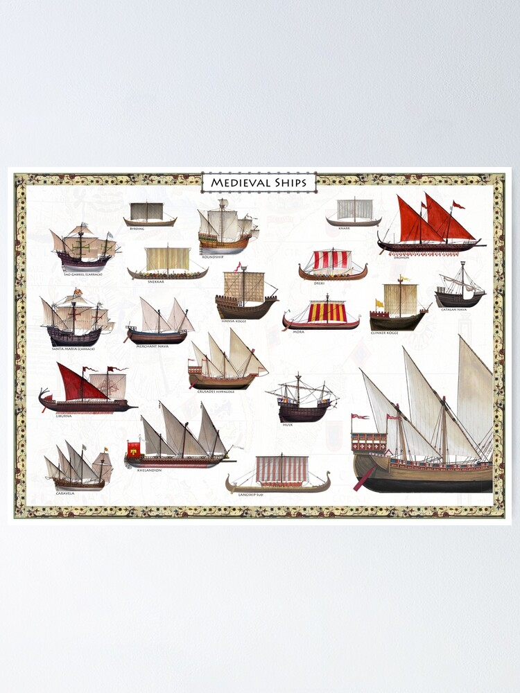 Alternate view of Medieval Ships Poster