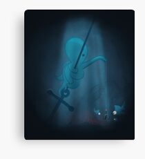 Octopus & fishes Canvas Print