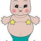 Chubby Mermaid Kewpie by Natalie Perkins