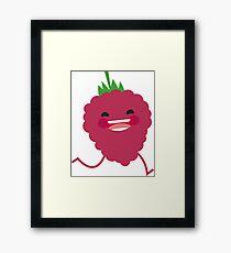 fruit rasberry pearl Framed Print
