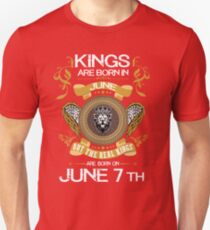 Kings Are Born In June 7th T-Shirt