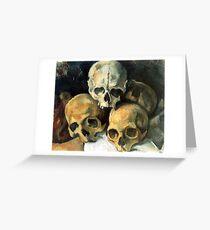 Cezanne, Pyramid of Skulls, Paul Cézanne Greeting Card