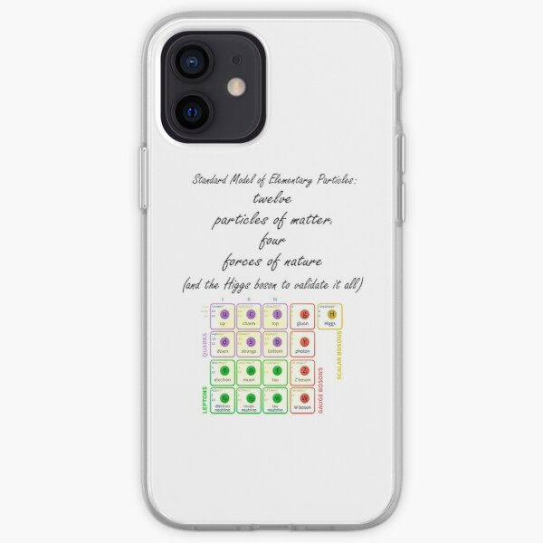 Standard Model of Elementary Particles iPhone Soft Case