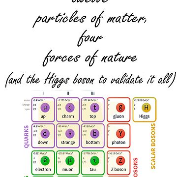 Standard Model of Elementary Particles by theladyinred