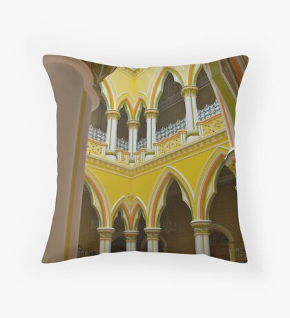 Maharajah's Courtyard Throw Pillow