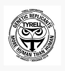 Tyrell Corporation - White Photographic Print