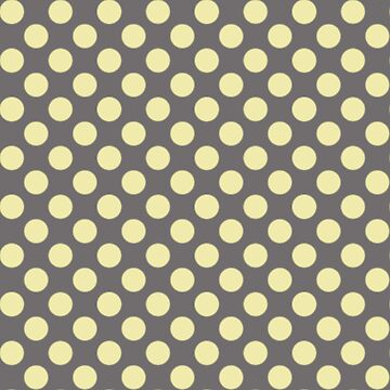 Yellow Cream Colored Polka Dots on Gray by tsuttles