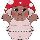 Chubby Mushroom Kewpie by Natalie Perkins