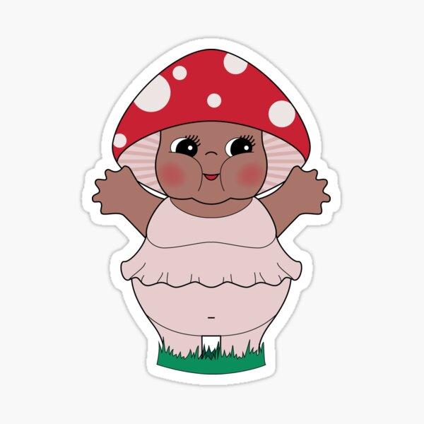 Chubby Mushroom Kewpie Sticker