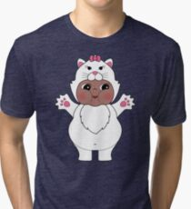 Chubby Cat Kewpie Tri-blend T-Shirt