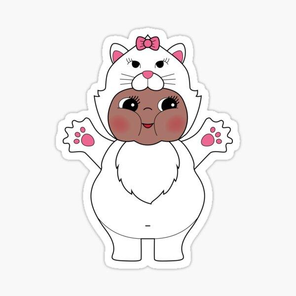 Chubby Cat Kewpie Sticker