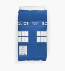 Dr. Who's Tardis Duvet Cover