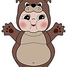Chubby Dog Kewpie by Natalie Perkins