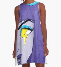 Lightning Eye Girl In Silent Rage A-Line Dress