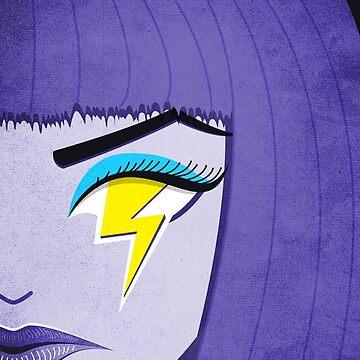 Lightning Eye Girl In Silent Rage by azzza