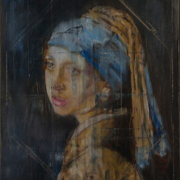 Girl with a Pearl Earring - reworked and scraped off by rinze