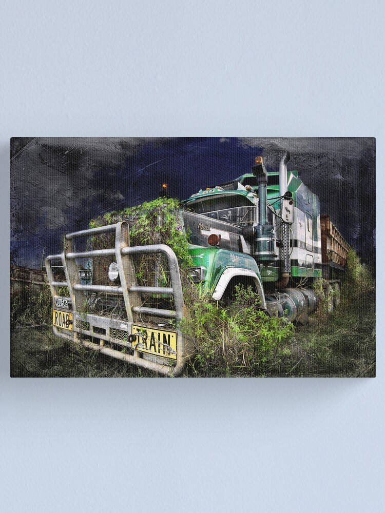 Alternate view of Night of the Road Train Canvas Print