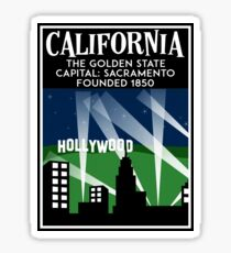 California Travel Sacramento Los Angeles San Francisco San Diego Northern Sticker